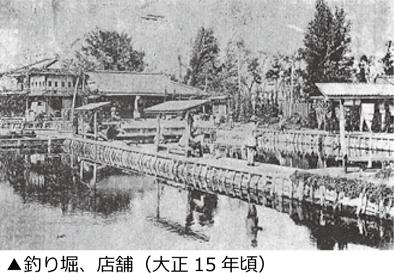 釣り堀、店舗(大正15年頃)